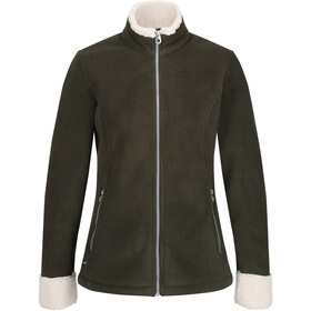 Regatta Bernice Fleece Jas Dames, dark khaki/light vanilla